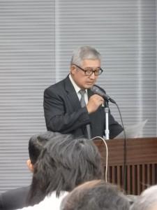 開会の挨拶 津田敏隆(生存圏研究所・所長)
